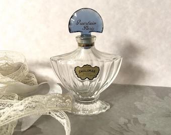 Guerlain Shalimar miniature perfume bottle, Vintage Shalimar,Vintage perfume,Guerlain Shalimar,miniature perfume