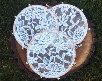 Ivory Lace Tambourine