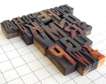A to Z - Vintage Letterpress Wood Type Collection -VG109