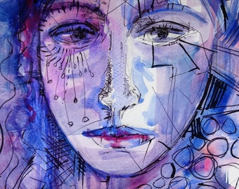 Art on Me: Watercolour and ink painting by Sue Townshend