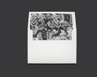 DIY Envelope Liner | Printable PDF | Floral grey/silver