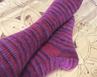 Knitted socks size 7-9