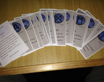 Archangel Rune Cards, Handmade Oracle Cards, Archangel Oracle Cards, Rune Oracle Cards, Handmade Tarot Cards, Archangels and Runes Oracle