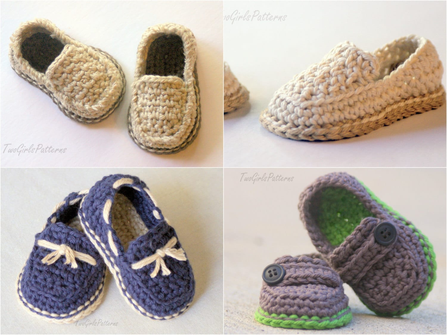 CROCHET PATTERN 120 Baby Lil\' loafers pattern pack