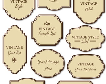 Printable Labels Etsy - Sample name tag templates