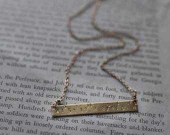 Custom Coordinates Necklace, Custom Coordinate Necklace, Coordinates Bar Necklace, Pommier-Benoit Handcrafted Jewelry,
