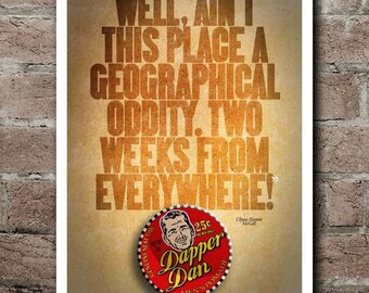 "O Brother, Where Art Thou? ""GEOGRAPHICAL ODDITY"" Quote Poster"