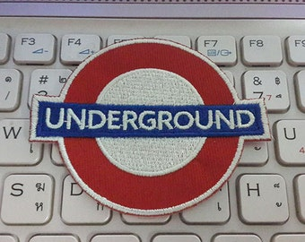 Underground Applique Embroidered Iron on Patch