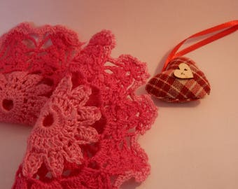 two pink circle crochet