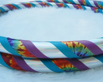Custom Travel Hula Hoop - 'The Happy Hippie' in Silver - Made YOUR Size.