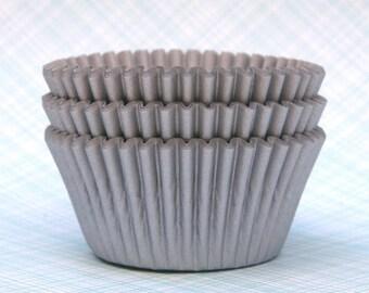 Silver Cupcake Liners - Baking Cups - Bulk (100)