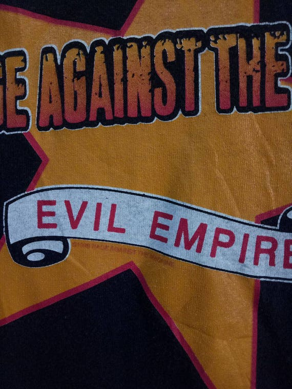 band Evil The concert VINTAGE shirt Empire Rage Machine tour t tee Against 90s American heavy metal album RATM 1998 promo SwRx16q