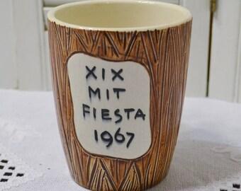 Vintage MIT Ceramic Mug XIX MIT Fiesta 1967 College University Memorabilia Mexico Retro Bar Decor PanchosPorch