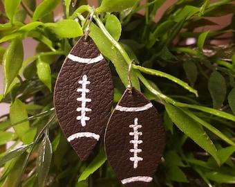 Football earrings (Leather)