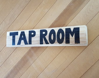 Tap Room Reclaimed Wood Beer Sign. Wood Wall Decor