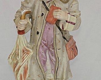 C1870 GERMAN Hard Paste PORCELAIN I am off for a long journey LARGE Figurine