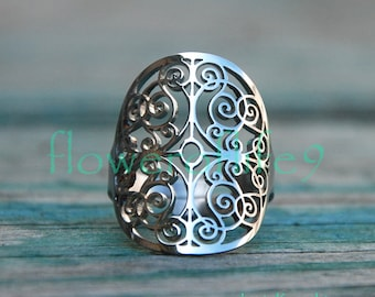 Mandala of Understanding ring - Stainless Steel