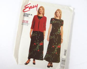 UNCUT Sewing Pattern for Jacket and Dress, McCalls 2838 Sizes 18, 20, 22, 24, Bust 40 - 46 Inches