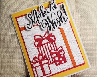 Birthday Card/ Make a Wish Card/ Greeting Card