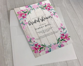 Floral Gates Invitation Design