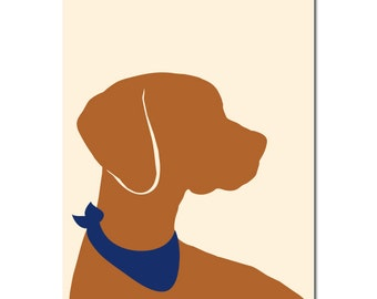 Hungarian Vizsla Dog Art - Vizsla Gifts, Dog Gift Ideas, Dog Art Prints, Gift for Dog Lovers, Dog Wall Art, Print, Gifts for mum