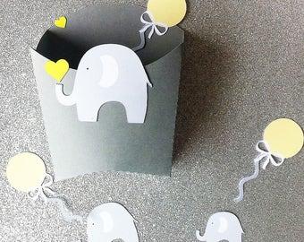 "20 boites-  baptême - thème ""cirque"" -elephant ballon"