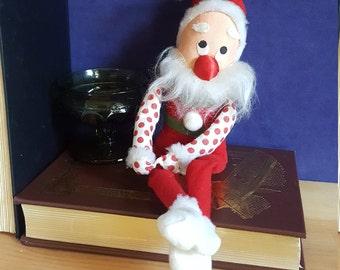 1960s Christmas Santa Elf Doll- Rice-Bayersdorfer Knee-Hugger
