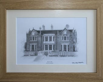 Egerton Lodge in Melton Mowbray - PRINT