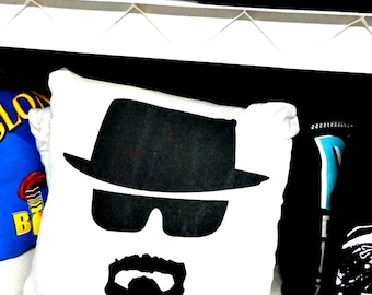 Breaking Bad Throw Pillow Home Decor recycled upcycled Black White 16x16