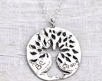 Be Strong Necklace - Tree of Life Necklace - Bodhi Tree- Handmade Jewelry - N601