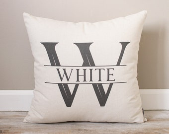 Initial with Last Name Pillow    Custom Name Pillow   Monogrammed Pillow   Personalized Pillow   Wedding Gift Pillow   Bridal Shower Gift