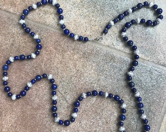 Blue and Silver Nighttime Necklace