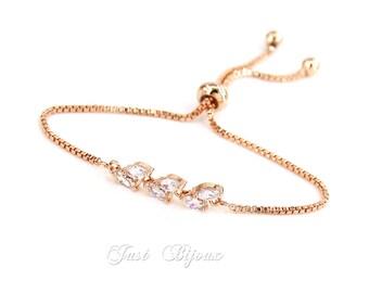 Wedding Bracelet Bridesmaid Bracelet Platinum plated Zirconia Bracelet Zirconia Bracelet Wedding Jewelry Bridal Bracelet Bridal Jewelry Ava