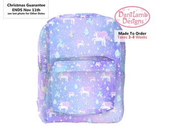 Unicorn Backpack Pegasus Pony Fairy Kei Pastel Galaxy Stars Universe *Made to Order, Month*