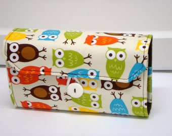Cash Envelope Wallet  / Dave Ramsey System / Zipper Envelopes - Zoology Owls