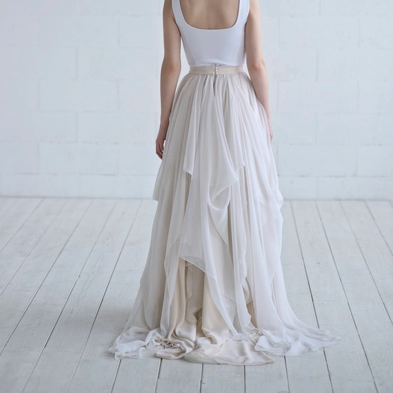 Maegan - chiffon bridal skirt