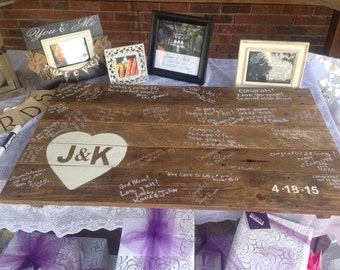 Rustic Wedding Guest Book - made from Recycled Pallet Wood