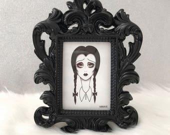 Framed Wednesday Addam's Mini Print