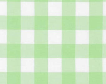 1 Inch Plaid - Carolina Gingham in Mint Green by Robert Kaufman - 1 yard increments