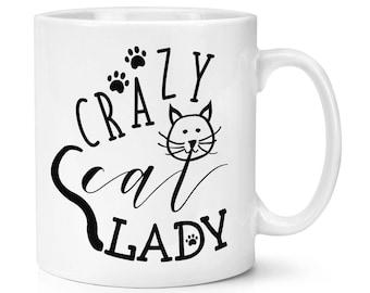 Paws Cartoon Crazy Cat Lady 10oz Mug Cup