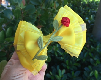 Belle Deluxe Edition inspired hairbow Beauty and the Beast