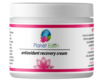 Organic Antioxidant Recovery Cream with Hyaluronic Acid & Green Tea - Deeply Mousturizing and Anti Aging for Stressed Skin