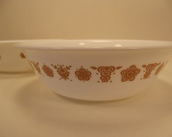 """Corelle Vintage Butterfly Gold Large Bowl 6 1/4"""" wide (1)"""
