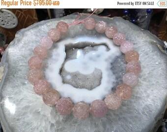 50% Mega Sale 20mm Carved Shou Pink Morganite Gemstone Beads