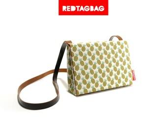 Pineapple Print Mini Messenger Bag