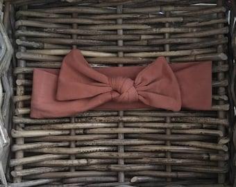 Brown Organic Fabric Hairband