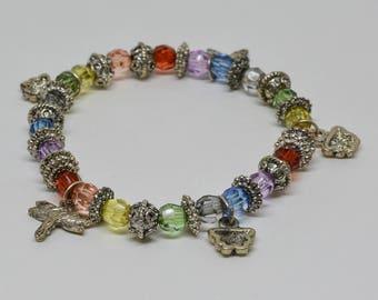 Colorful Charm Stretchable  Bracelet