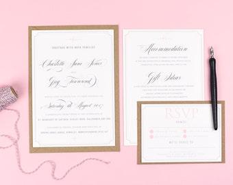 Delicate Frame Wedding Invitations - Erin