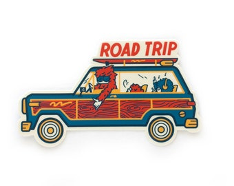 Sasquatch Family Road Trip Vinyl Sticker