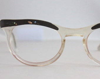 Vintage 50's Rhinestone Cat Eyeglasses Sunglasses Frames